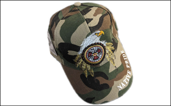 Native Camo Eagle Head Baseball Cap