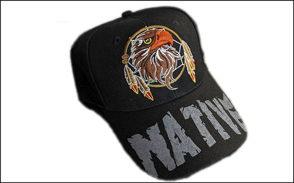 Native Eagle Feather Baseball Cap