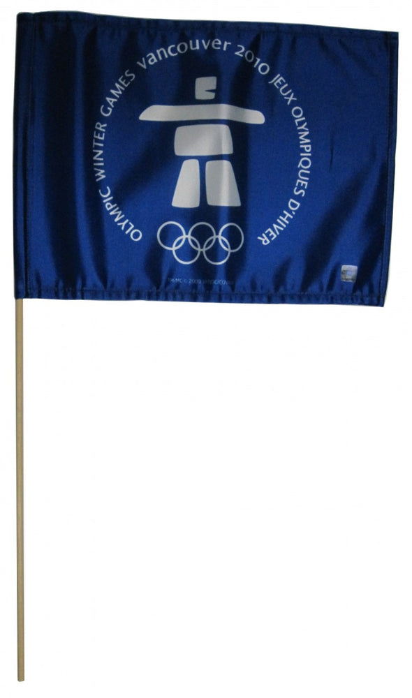 "2010 Vintage Winter Olympics 12""x 18"" w/staff"