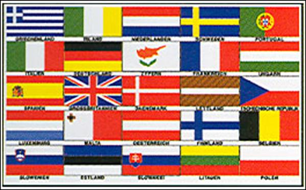 "Europe 25 Countries 36""x 60"""