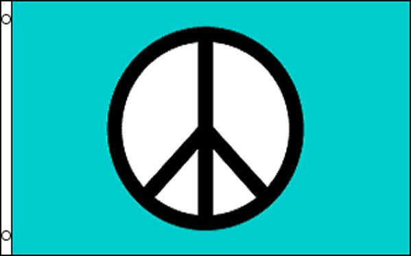 Peace Sign in Light Blue Background