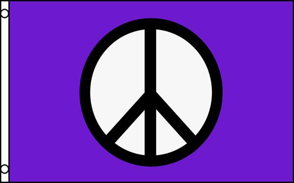 "Peace Sign in Purple Background  36""x 60"""