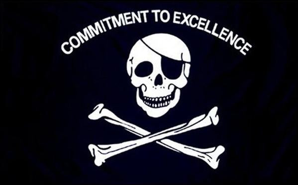 "Pirate Commitment to Excellence 36""x 60"""