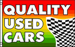 """Quality Used Cars"" Flag  36""x 60"""