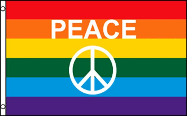 "Rainbow Pride Peace (Sign) 36""x60"""