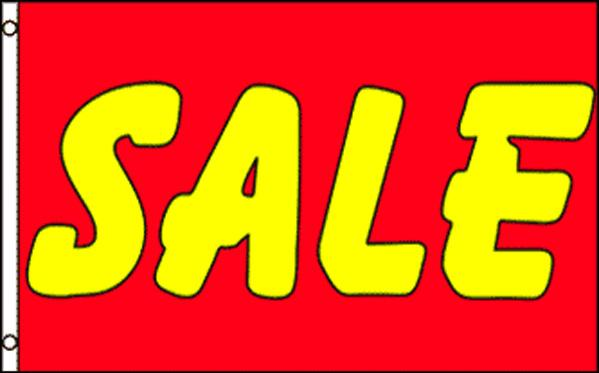 """Sale"" red & yellow 36""x 60"" Flag"