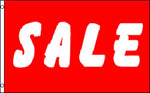 """Sale"" Red & White 36""x 60"" Flag"