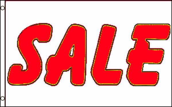 """Sale""  White & Red 36""x 60"""