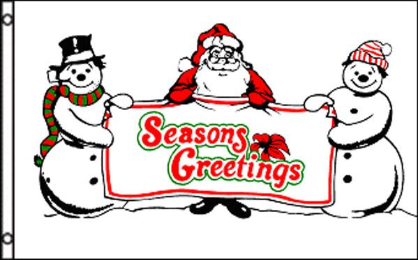 "Christmas' Seasons Gr. Snowmen 36""x 60"""
