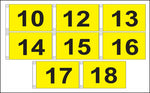 "Golf Flag Set #10-18 - 14""x 20"" (Yellow)"
