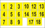 "Golf Flag Set #1-18 - 14""x 20"" (Yellow)"