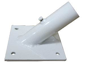 "Heavy Duty Single Bracket for 1.5"" diameter pole 45 degrees"