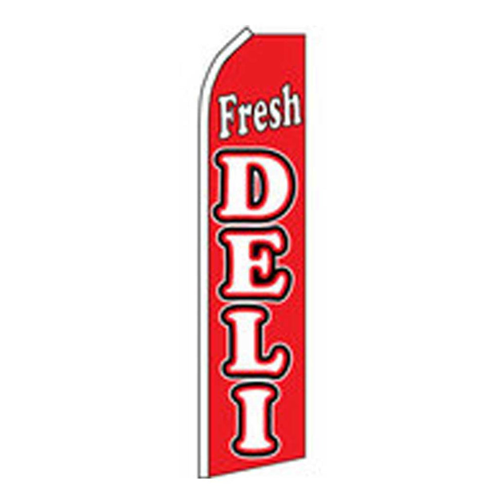11.5' x 2.5' Feather Blade Flag Fresh Deli