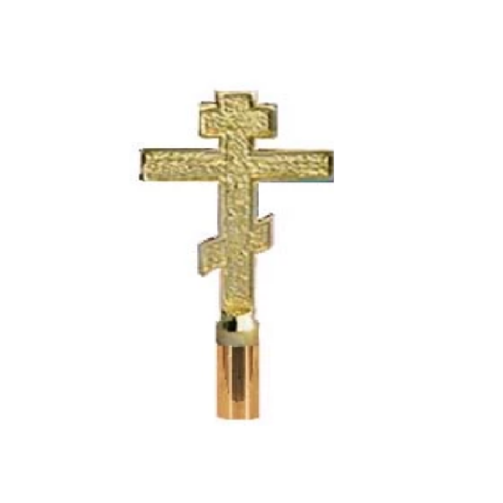 Greek Cross Brass Finial Pole Top