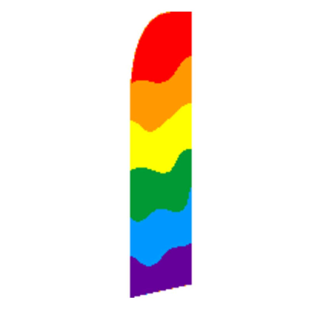 11.5'x 2.5' Feather Blade flag Rainbow / Pride