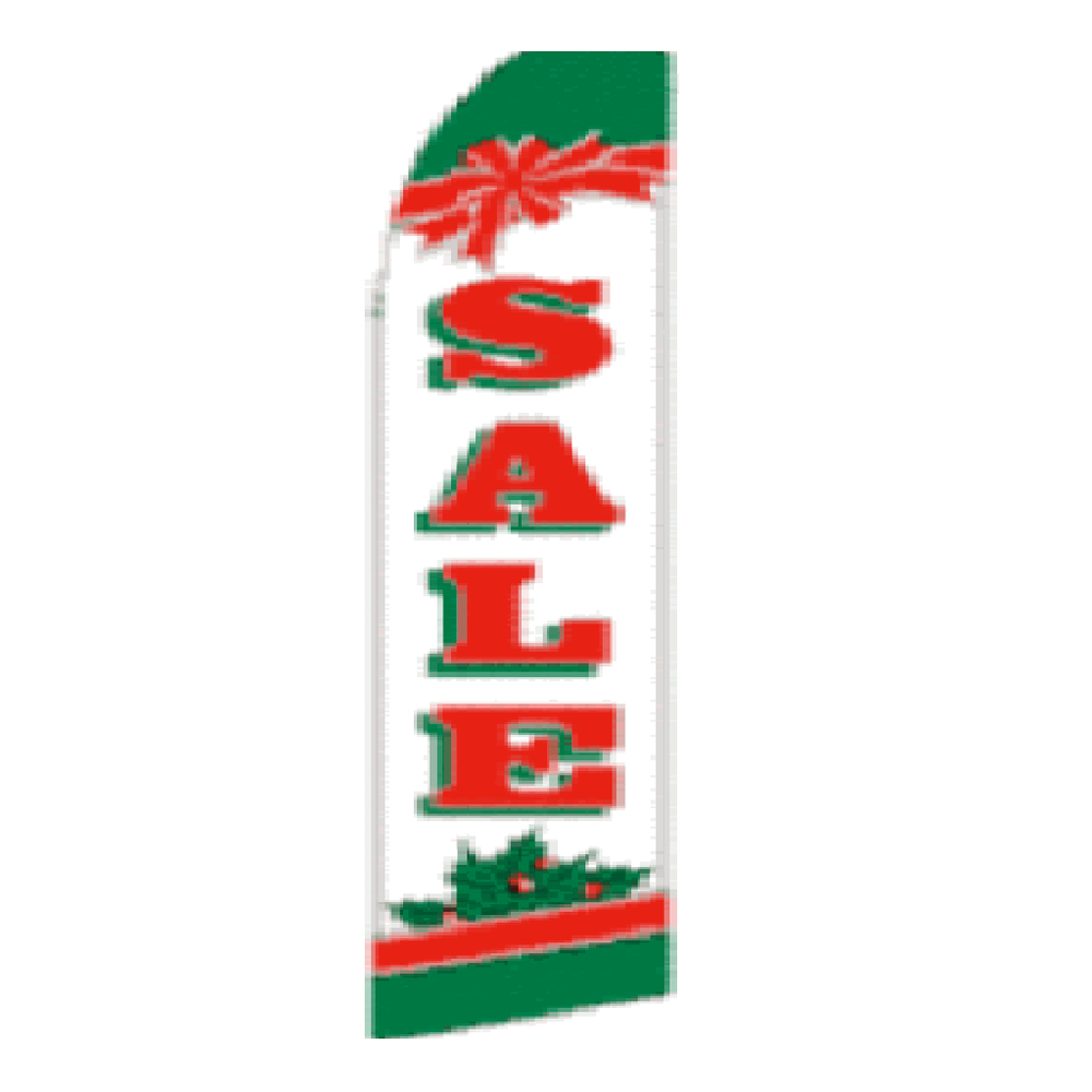 11.5' x 2.5' Feather Blade Flag Christmas Sale