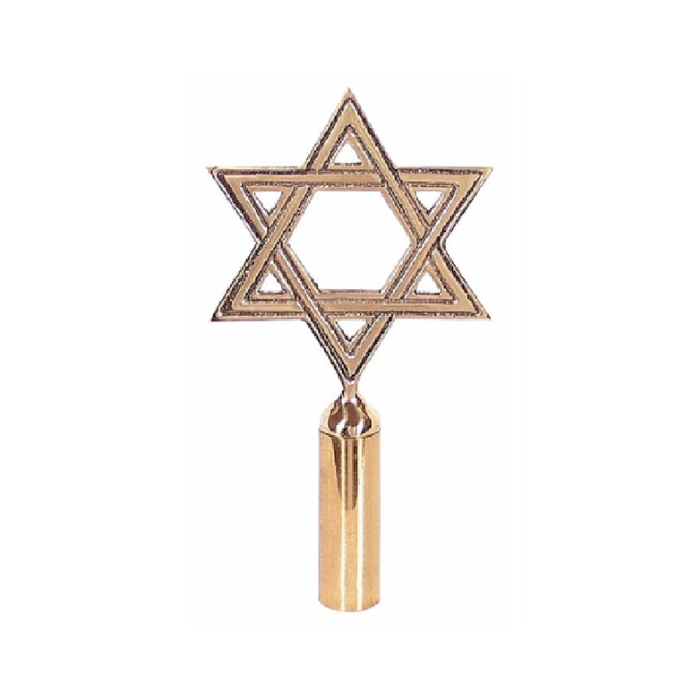 Star of David Finial Pole Top
