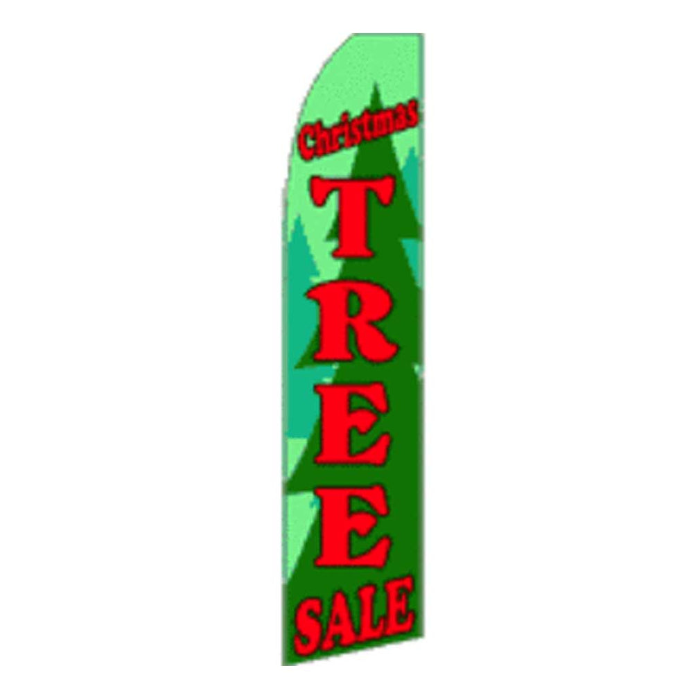 11.5' x 2.5' Feather Blade Flag Sale Christmas Tree