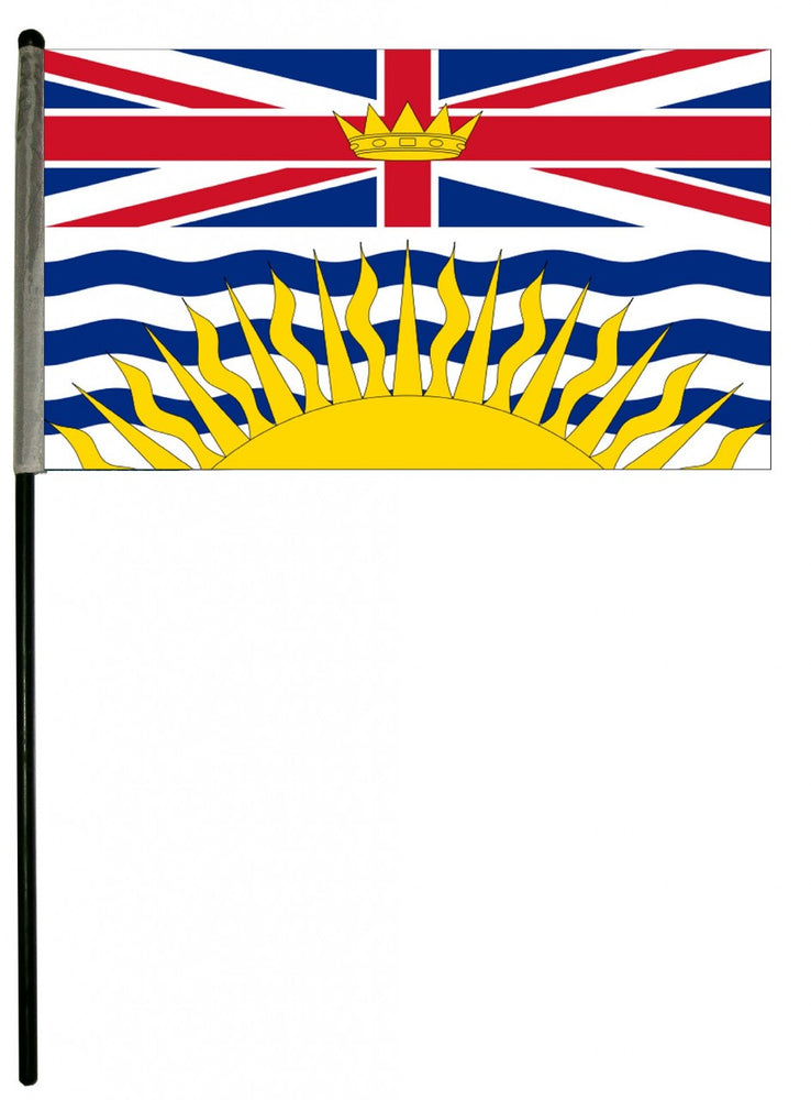 "6""x 10"" w/staff Provincial Flags"