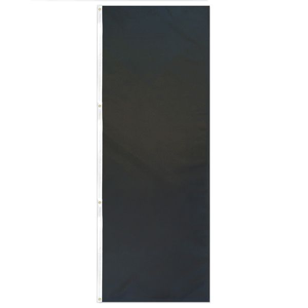 Banner, solid colour, Black 3'x8'