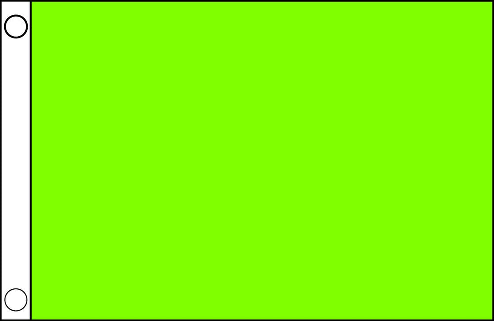 Solid Neon Green Flag