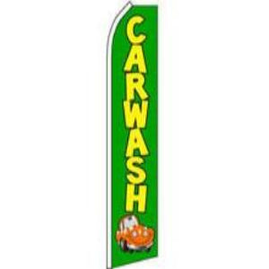 11.5' x 2.5' Car Wash Feather Blade banner