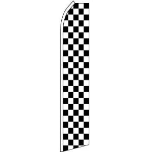 Feather, Blade, Checkered, Black, White