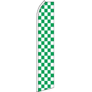 Feather, Blade, Checkered, Green, White