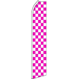 Feather, Blade, Checkered, Pink, White