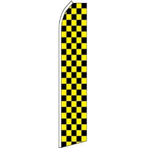 Feather, Blade, Checkered, Black, Yellow