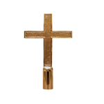 Brass Cross Finial Pole Top