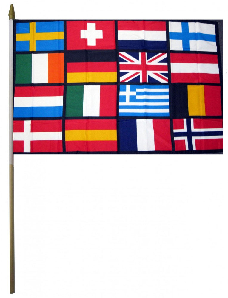 Europe 16 Countries Flags