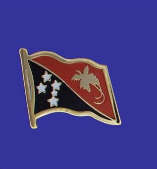Lapel pin, Papua New Guinea