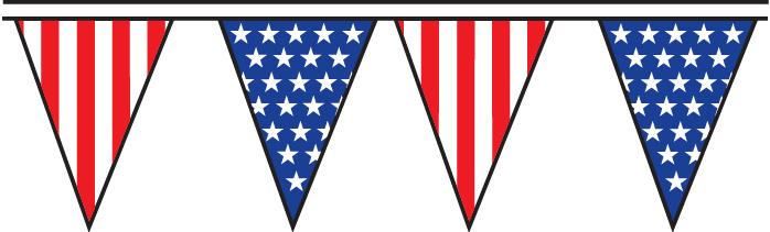 USA 100' Pennant String