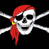 Pirate Skull with Red Scarf