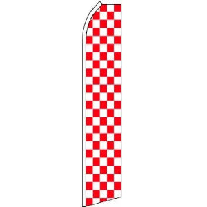 Feather, Blade, Checkered, Red, White