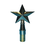 Texas Star Finial Pole Top