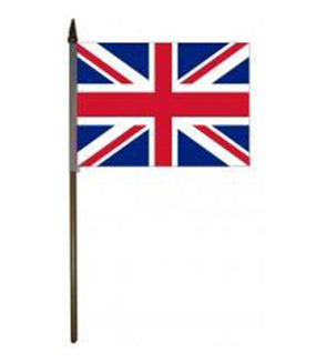 "4""x 6"" United Kingdom poly w/staff"