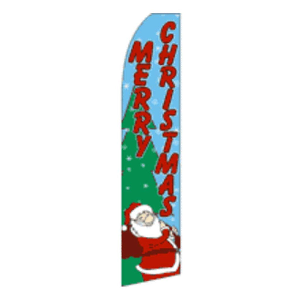 11.5' x 2.5' Feather Blade Flag Merry Christmas