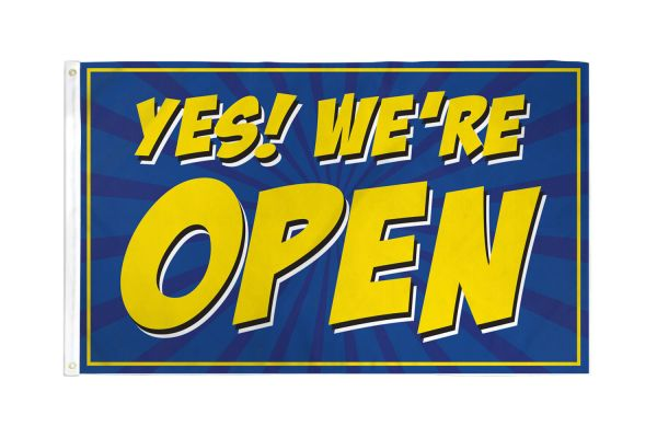 Yes! We're open, blue