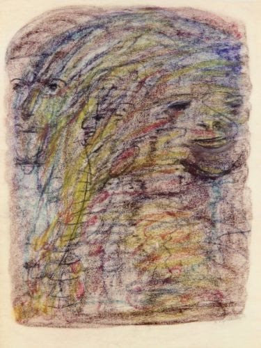 Agatha Wojciechowsky Abstract Artwork Pastels Signed Dated 1956 Original Work