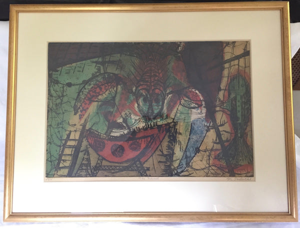 Michael Francis Podulke 'The Hermit' framed and signed work titled