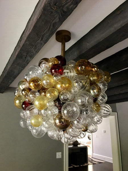 Custom Chandelier by Nessing Design Art Decor NYC