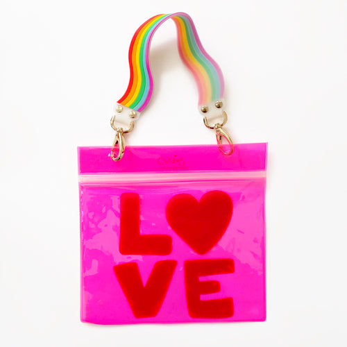 Free Pink PVC Zip Bag with Each Purchase of Happy Strap!
