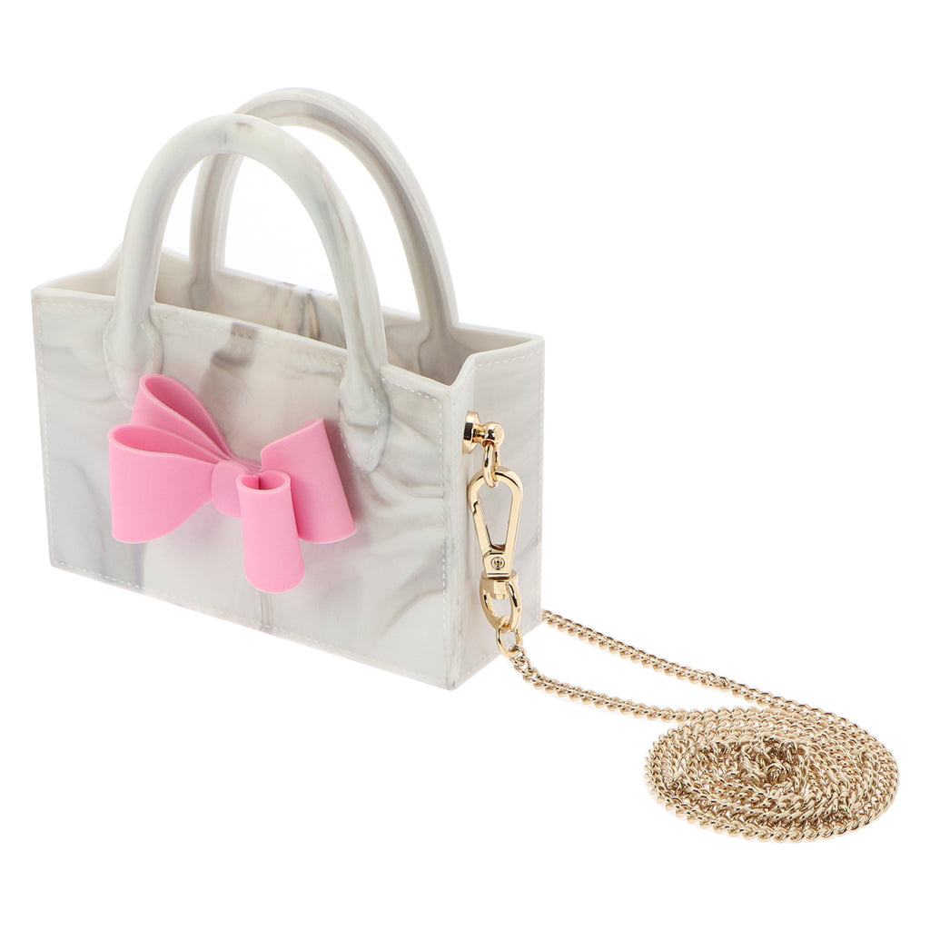 Micro Ribbon Box Bag (Marble)