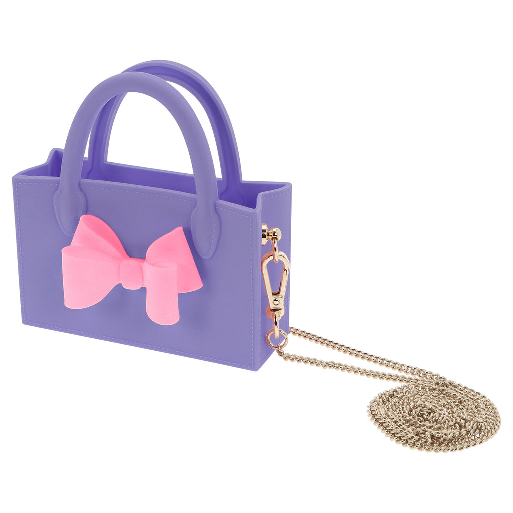 Micro Ribbon Box Bag (Purple)