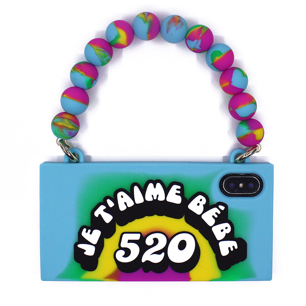 iPhone X/Xs Rainbow Handbag Case - JE T'AIME BÉBÉ 520