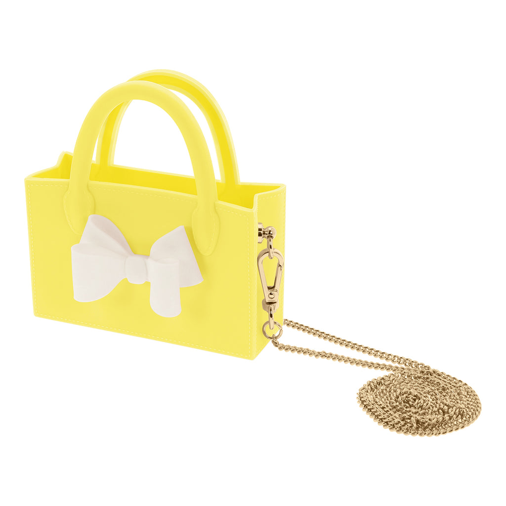 Micro Ribbon Box Bag (Yellow)