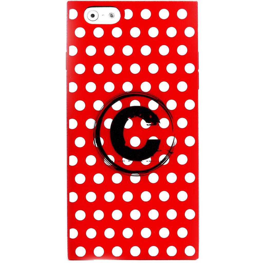 iPhone 6 Plus/6S Plus - Monogram Girly (White Modern Polka Dots) - Phone Cases - Candies Gifts