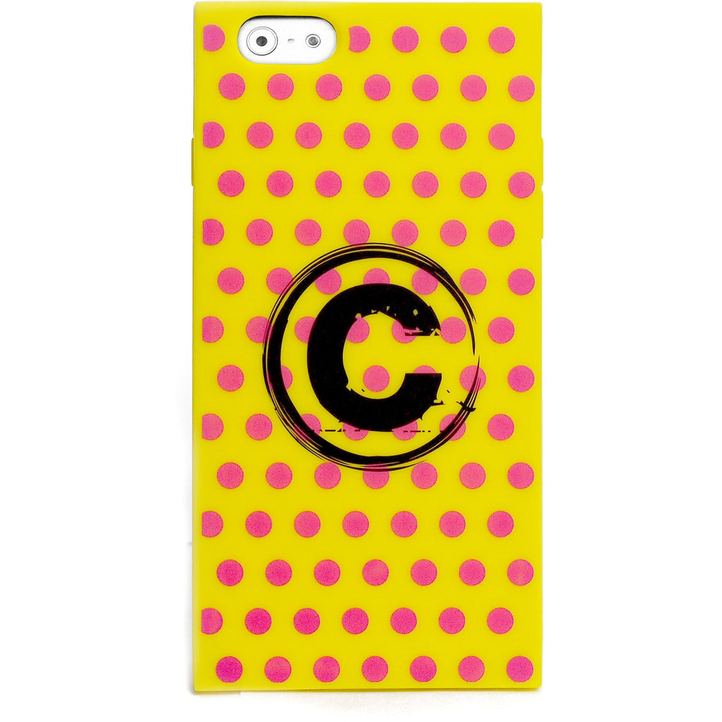 iPhone 6 Plus/6S Plus - Monogram Girly (Neon Yellow Polka Dots) - Phone Cases - Candies Gifts